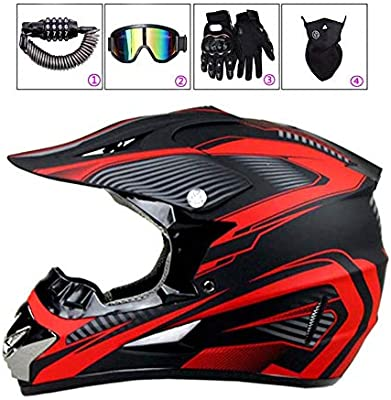 LEENY Niños y Niñas Cascos de Motocross de Moto Set con Gafas ...