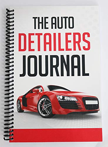 Auto Detailing Maintenance Record Notebook, Spiral Lined, 180 pages, Soft Cover