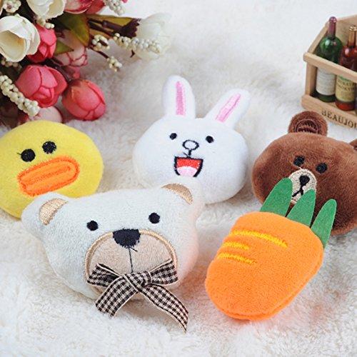 Korean Meng things can Ai Bulang s Bear Brown Bear can Ni rabbit doll doll Sally chicken brooch