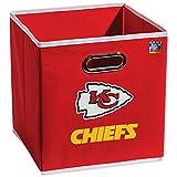 Franklin Sports NFL Kansas City Chiefs Fabric Storage Cubes – Made To Fit Storage Bin Organizers (11×10.5×10.5)