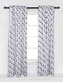 Bacati - Elephants Blue/Grey Mini Elephants Curtain Panel