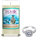 Mermaid Day Dream Candle with Ring Inside (Surprise Jewelry Valued at $15 to $5,000) Surprise Ring Size