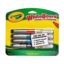 Crayola Dry Erase Markers (4 Count), Visimax BL