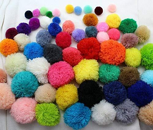 Pompom Yarn Balls 100pcs Loose Yarn Pom Poms 15mm-60mm Beads, Balls, Flower Pompom, Mixed Color Fluffy Balls Designer Jewelry Charm DIY