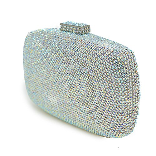 Luxe Strass Plein Main Dames Nuptiale silver Sac Sacs Pochette Sacs Paquet Cristal À Oreiller Diamant De Dîner Sac Soirée wPx4RP0