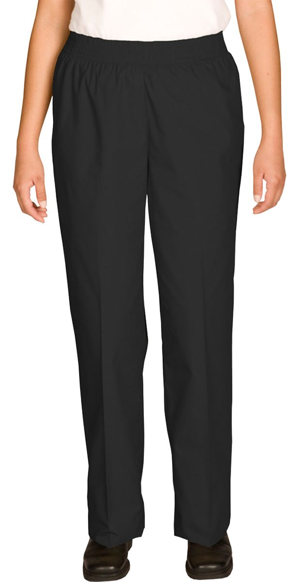 Ed Garments Elastic Waistband Housekeeping Pant, BLACK, XX-Small