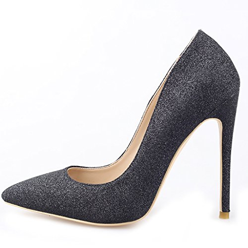 Buffalo a puntaPumps Nero Elegante da Donna Tg. de 39 Pointed Toe Pumps