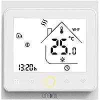 Termostato WiFi para Caldera de Gas/Agua Termostato Inteligente programable - Función de Control de Voz Compatible con…
