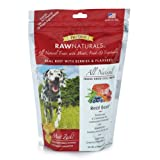 Stewart's Raw Natural 4-Ounce Bag Freeze Dried Dog Treats, Real Beef with Berries and Flaxseed by MiracleCorp/Gimborn, My Pet Supplies