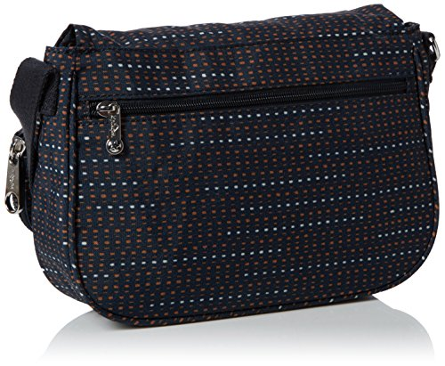Kipling Earthbeat S, Borse a tracolla Donna Multicolore (Dotted Lines)