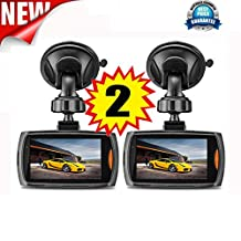 Becoler 2 PCS Car 1080P 2.2 Inch Full HD DVR Vehicle Dash Cam Video with G-sensor Night Vision