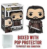 Funko Pop! Game of Thrones: GOT - Jon Snow #49 Vinyl Figure (Bundled with Pop BOX PROTECTOR CASE)