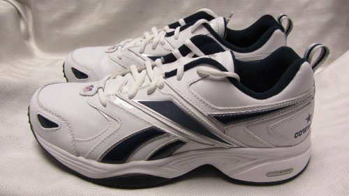 Dallas Cowboys Mens Size 11 Pro Evaluate Trainer White Navy Silver Shoes Sneakers AMZ-R 355 by Reebok
