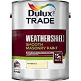 Dulux Trade Weathershield Smooth Masonry Buttermilk 5 Litres by Dulux Trade