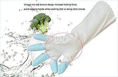 BB Warm Rubber Gloves Household Kitchen Dish Washing Cleaning PVC Cotton Gloves New