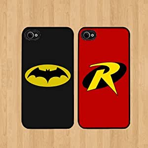Batman and robin Best Friends iphone 4 /4S Case Soft Rubber - Set of Two Cases (Black or White ) SHIP FROM CA