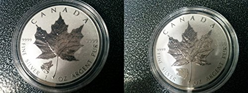 CA 2016 New Wild Canada Series 1 oz Grizzly Privy+1oz Wolf Privy Silver Coin set Silver Maple Leaf Mint State