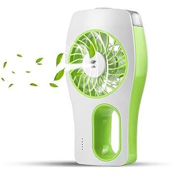Tragbarer Handventilator mit Wassersprühflasche Kleiner Ventilator im Freien