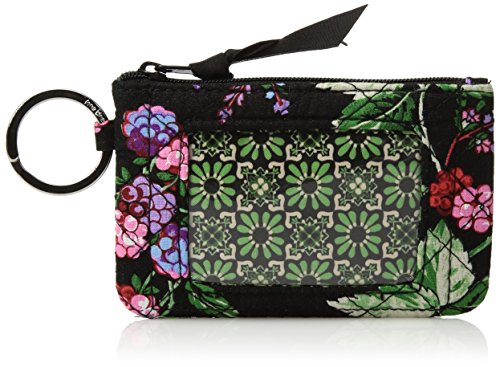 Id Coin Purse - Vera Bradley Women's Iconic Zip Id Case-Signature