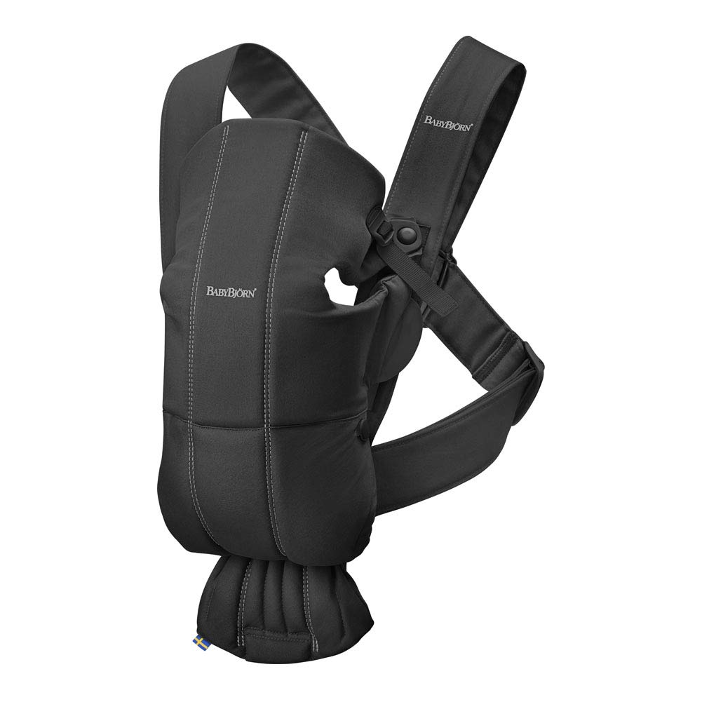 BABYBJORN Baby Carrier Mini, Cotton, Black, One Size BABYBJÖRN 021056CA