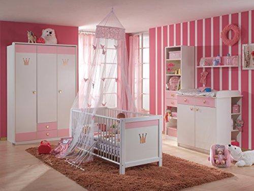 BABYZIMMER KINDERZIMMER CINDERELLA 7 Teilig Weiß Rosa: Amazon.de: Baby Nice Ideas