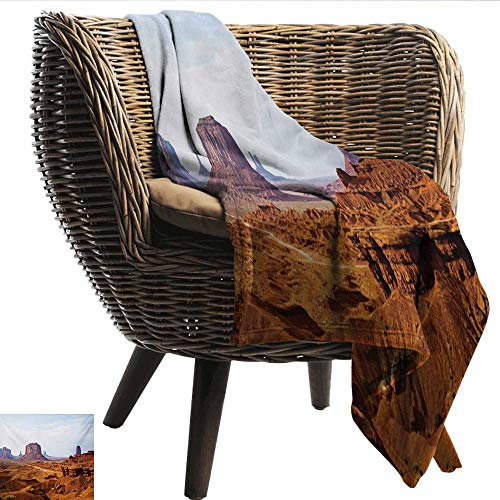 Cozy Flannel Blanket Desert Monument Valley View from John Fords Point Merritt Butte Sandstone Image Lightweight All-Season Blanket W60 xL51 Sofa,Picnic,Camping,Beach,Everyday use