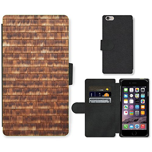 PU Leder Wallet Case Folio Schutzhülle // M00157137 Wood Texture Wandfliesen Grain // Apple iPhone 6 PLUS 5.5""