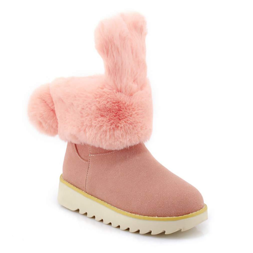 Hy Frauen Stiefelies Wildleder Winter dicken Boden Schneeschuhe Low Top Casual Winter Stiefel Damen Große Größe Plus Thick Outdoor Ski Schuhe (Farbe   B Größe   33)