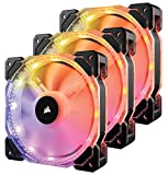 Corsair CO-9050067-WW HD Series, HD120 RGB LED, 120mm High Performance RGB LED PWM Three Fans with Controller