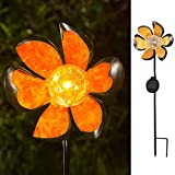 COEUS Garden Solar Outdoor Decorative Lights Stakes Pathway,Metal Flower Waterproof LED Solar Decor Lights for Walkway Patio Lawn For Sale