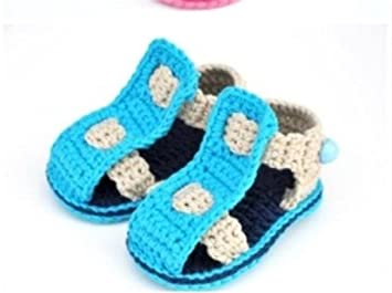 Amazon.com  New Summer Baby Handmade Crochet Baby Toddler Shoes baby ...
