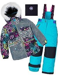 Deux par Deux Girls' 2-Piece Snowsuit Great Escape Peacock, Sizes 4-14