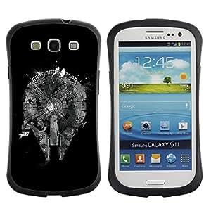 Suave TPU GEL Carcasa Funda Silicona Blando Estuche Caso de protección (para) Samsung Galaxy S3 I9300 / CECELL Phone case / / Abstract Black Monochrome Plan /