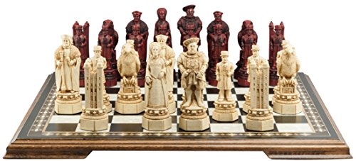 Tower of London Themed Chess Set - 5.5 Inches - In Presentation Box - Handmade in UK - Ivory and Burgundy ()