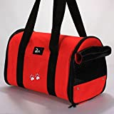 Corner Biz Pet - Portable Small Pet Dog Cat Sided Carrier Travel Tote Shoulder Bag Cage House Color Red Size M