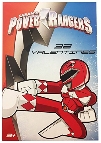 [Power Rangers 32 Valentine Cards Classroom Exchange - Animated Cartoon Style] (Costume Design Online Classes)