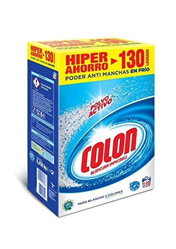 TALLA 130 dosis. Colon Detergente para Lavadora en Polvo Activo - 130 dosis