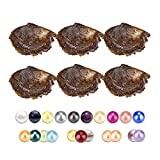 150PCS of Mix 20 Colors Single Twins Triplet Quads Individual Package 6-8mm Saltwater Round Akoya Pearl Oyster
