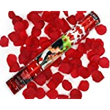 Wondercandle - 10 cañones de pétalos de rosas rojas