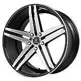Verde Custom Wheels V39-981230B Parallax Gloss Black Wheel with Machined Spokes (19x8.5'/5x120mm)