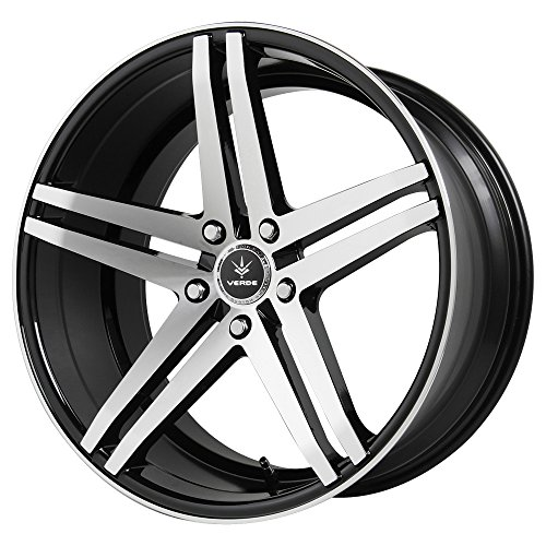 Verde Car Rims - Verde Custom Wheels V39-981230B Parallax Gloss Black Wheel with Machined Spokes (19x8.5