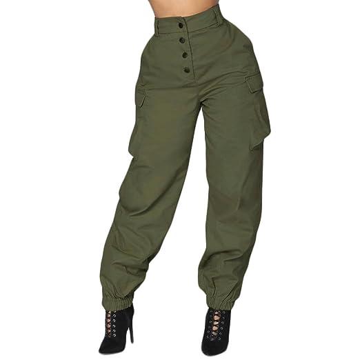 9dbfae8fd96ad5 Pervobs Women Pants, Big Promotion! Pants for Women Casual High Waist Harem  Bottoms Solid