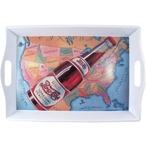 - Pepsi Cola Rectangular USA Map Serving Tray with Handles