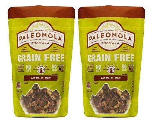 Paleonola Grain Free Gluten Free Non-GMO Granola, Apple Pie Flavor - Pack of 2, 10 Oz. ea. -