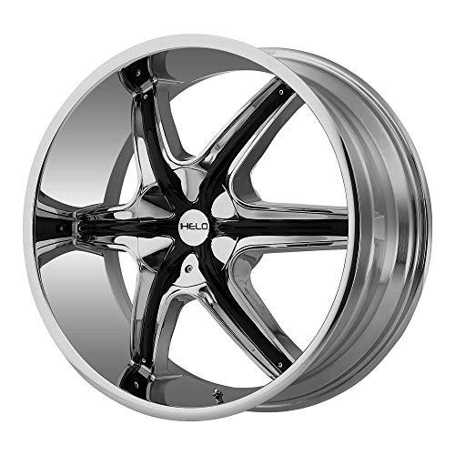 Nissan 350z Chrome Rims - HELO HE891 CHROME W/GLOSS BLACK AND CHROME ACCENTS HE891 20x8.5 5x114.30/5x120.00 CHROME W/GLOSS BLACK AND CHROME ACCENTS (35 mm) rims