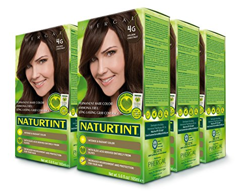 Naturtint Permanent Hair Color - 4G Golden Chestnut, 5.28 fl oz (6-pack) by Naturtint