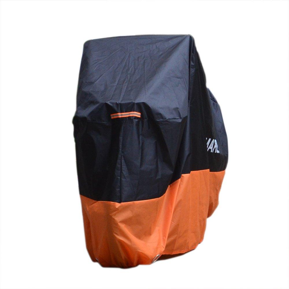 Color Rojo Negro XXL Cubierta para Moto Smarcy Funda Protector para Moto Motocicleta Resistente al Agua a Prueba de UV