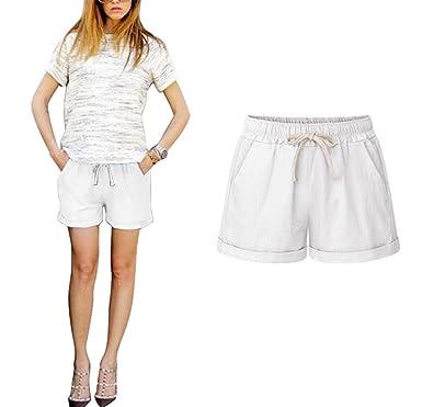 Aswinfon Short Femme été Fluide Casual Ample Grande Taille Pantalon Court  Sport Shorts  Amazon.fr  Vêtements et accessoires a6cee45df1ad