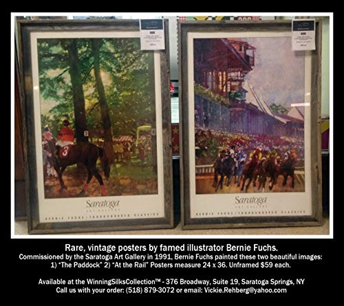 - Saratoga Race Course - Two Rare Vintage Posters by Famed Illustrator Bernie Fuchs