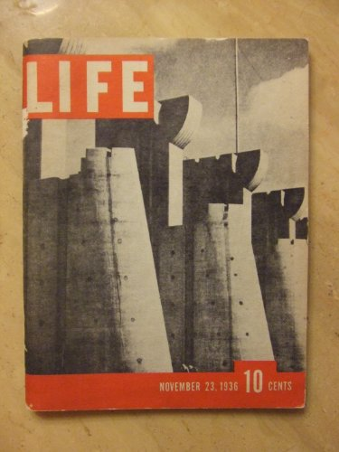 Life Magazine with Cover Photo of Dam At Fort Peck, Montana - Volume 1 Number 1 - 11.23.1936